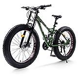GXLO Mountain Bike Beach Cruiser 4,0 Pneumatico Largo Beach Fuoristrada MTB Top Fat Bike Fat Tire Bike Neve Bike Fat Tire Big Bicicletta Fat Tire,C