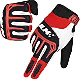 ILM Dirt Bike Motorcycle Gloves Unisex Fit BMX MX ATV MTB Racing Mountain Bike Motocross Outdoor Sports (Adult Size-Red,...