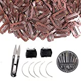 80Pcs Wig Clips Hair Extension Clips Wig Accessories Clips for Wig Snap Wig Clips U-Shape Snap Clips for Hair Extensions(Brown)