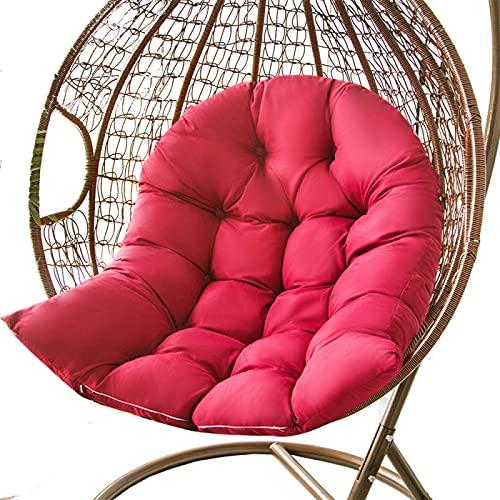 Cojín para silla con hamaca de huevo, impermeable, para colgar, para jardín, multicolor, para elegir, sin silla, 80 x 100 cm