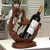 DC Wesley Europa Creativa Estante del Vino Decoración Artesanías De Belleza Sala De Estar Gabinete del Vino Decoración Bogu Vino Almacenamiento De Vino
