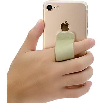 Pink-1 FOURPLUSONE Cell Phone Grip Universal Handheld Finger Strap Loop Holder for iPhone Samsung Smartphone Kindle Tablet Car Vent Holder