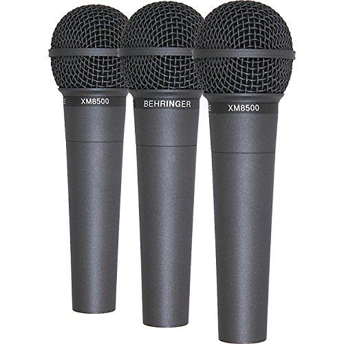 3 stuks - Behringer Ultravoice XM8500 handheld vocale microfoon inc case / clip