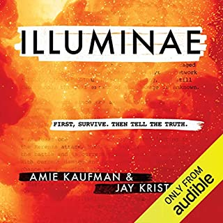 Illuminae                   By:                                                                                                                                 Amie Kaufman,                                                                                        Jay Kristoff                               Narrated by:                                                                                                                                 Olivia Taylor Dudley,                                                                                        Lincoln Hoppe,                                                                                        Jonathan McClain                      Length: 11 hrs and 40 mins     187 ratings     Overall 4.6