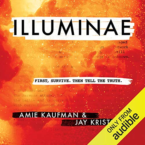 Illuminae     The Illuminae Files, Book 1              By:                                                                                                                                 Amie Kaufman,                                                                                        Jay Kristoff                               Narrated by:                                                                                                                                 Olivia Taylor Dudley,                                                                                        Lincoln Hoppe,                                                                                        Jonathan McClain                      Length: 11 hrs and 40 mins     19 ratings     Overall 4.9