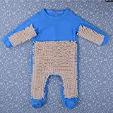 CHRRI Baby Romper, Kinder-MOP Jumpsuit Baumwollmantel Junge Mädchen Krabbeln Kostüm,G,73Cm