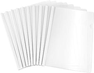 TOYANDONA Couvertures de Rapport Claires avec Barre Coulissante de Type U A4 Reliure de Présentation de Dossier Transparen...