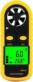 LLYY AS816 Smart Sensor Digital and Anemometer Thermometer Wind Air Speed Gauge Meter Wind Meter Temperature Tester Checker