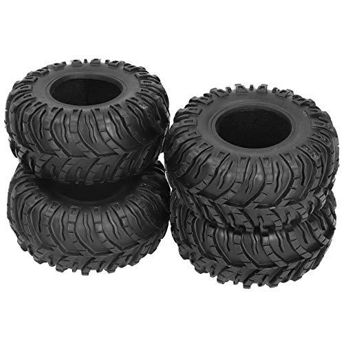 Jopwkuin Neumático De Goma De RC, Piezas De RC del Neumático De Oruga para El Coche De RC para El Modelo De Coche