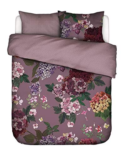 ESSENZA Duvet Cover Set 260 x 240 cm + 2 Pillowcases 60 x 70 cm Diana Lilac – Duvet Cover Collection Finished with a Double Flap.