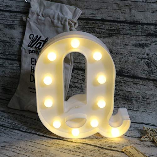 Leuchtbuchstaben LED Schild Festzelt Buchstaben mit Licht Alphabet Zahl Lampe Beleuchtung Wörter stehend Aufhängen A - Z Hochzeit Geburtstag Party Bar Wand Dekoration Licht