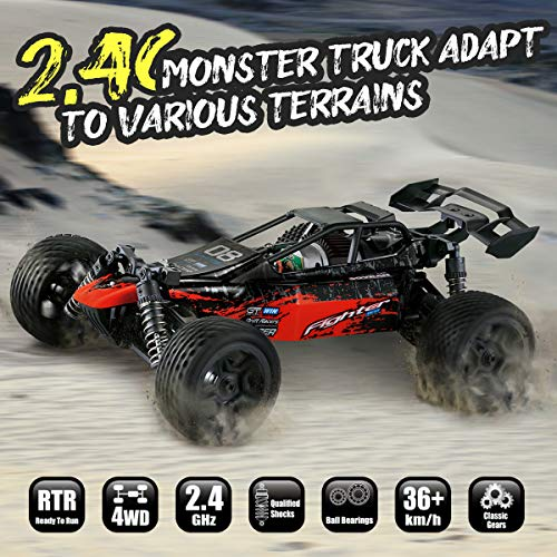 RC Auto kaufen Buggy Bild 5: Hosim 1:16 Scale 4WD Remote Control RC Truck G171, High Speed Racing Vehicle 36km/h Radio Controlled Off-Road 2.4Ghz RC Car Electronic Monster Hobby Truck R/C RTR Car Buggy for Kids Adults Birthday*