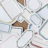 YCYY 46 Unids/Pack Vintage Etiqueta Memo Sticker Bag Set Scrapbook Sticker Papelería Decorativa Útiles Escolares