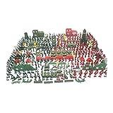 Cipliko 330 Pcs Soldados del Ejército De Plástico Minifiguras Set Soldados De Juguete Figuras Tanque De Juguete Soldados Los Soldados De Juguete