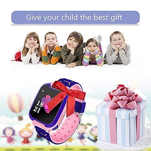 Smartwatch,1.54 Zoll Touch-Farbdisplay Kinder Smartwatch mit Kurzwahl, Musik, Wecker, Spiel, Kamera, Taschenlampe, IPX65 Water Resistant & SOS(Pink)