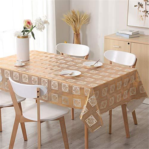 YUNSW Mantel De PVC Hueco Simple Y Creativo, Impermeable, A Prueba De Aceite, Mantel Antiincrustante, Mantel De Plástico Rectangular para El Hogar