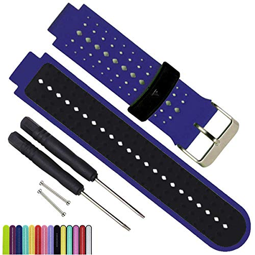 Find Discount Silicone Waterproof Replacement Watch Bands and Straps With 2PCS Pin Removal Tools + 2...