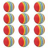 Pelotas de Golf de Espuma Pelotas de Golf Elástico Suave Pelotas de Golf de Espuma de Poliuretano Adecuado para Pelotas de Golf de Práctica para Interiores y Exteriores 12 Piezas (Color )