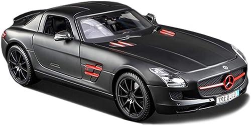 JIANPING Modèle de Voiture 1 18 Mercedes Benz SLS Alliage de Simulation de Moulage sous Pression Jouet OrneHommests Collection de Voitures de Sport Bijoux 25.8x11.7x7.2cm Modèle de Voiture