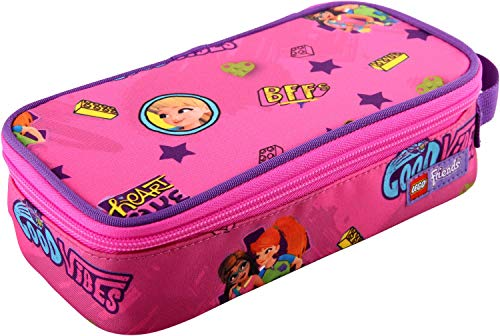 Lego Bags Lego Bags Square Pencil Case with Lego Friends Motif 21 cm, Good Vibes (Pink) - 400806474