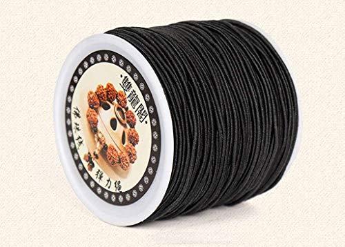 Elastisch koord, Sieraden maken Kralenkoord, Stretchdraad Draadstof Knutselen String Touw Bungeekoord voor doe-het-zelf-armbanden Armbanden Kettingen-zwart-1.5mm-40Meter