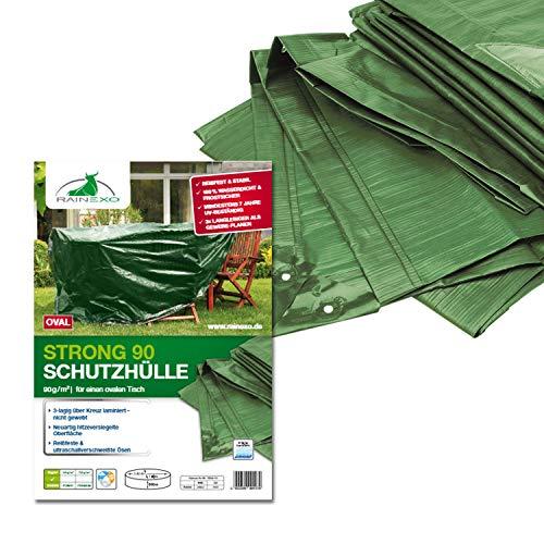 Bio Green RX90-TO Bâche de Protection pour Table Rond/Ovale Vert 2,4 x 1,8 x 0,9 m