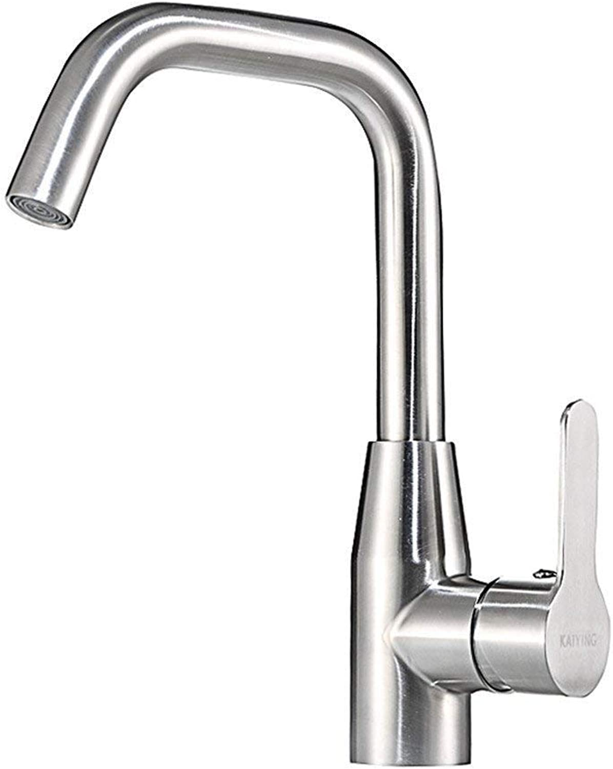 Oudan Kitchen Faucet Hot and Cold Basin Faucet 304 Stainless Steel Sink Wash Vegetable Basin Washbasin Faucet (color   -, Size   -)
