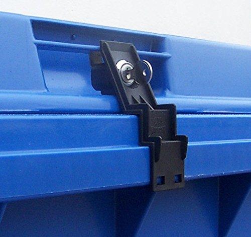 Müllcontainerverschluss, 660 -1100 Liter, für Weber, Flachdeckel, GS