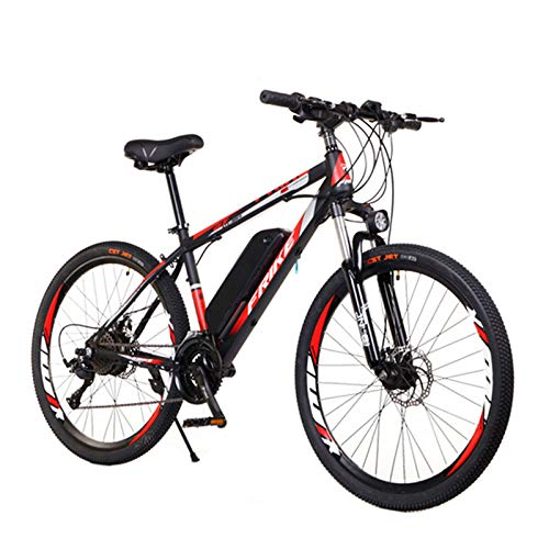 26' Electric Bike,250w High Speed City Electric Bicycle With ,36v Removable Lithium Battery,21 Speed Shock-Absorbing Mountain Bicycle,All Terrains Beach Mountain Snow ebike for Adults,8ah 35km