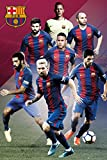 GB EYE FC Barcelona Spieler Collage Team Poster
