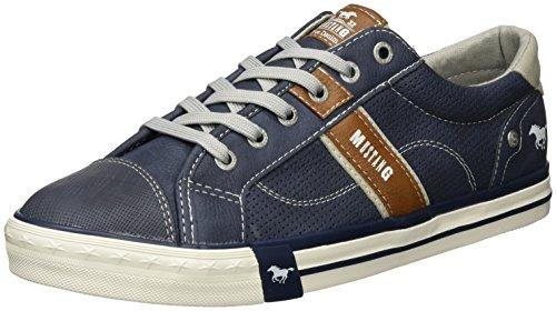 MUSTANG Herren 4072-301-800 Low-Top, Blau (800 dunkelblau), 45 EU