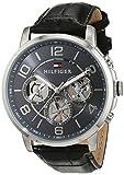 Orologio da uomo al quarzo Tommy Hilfiger 1791289, con visualizzazione multi-quadrante e cinturino in pelle.