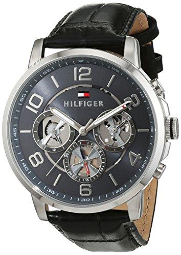 Reloj para hombre Tommy Hilfiger 1791289, mecanismo de cuarzo, diseño con varias esferas, correa de pi