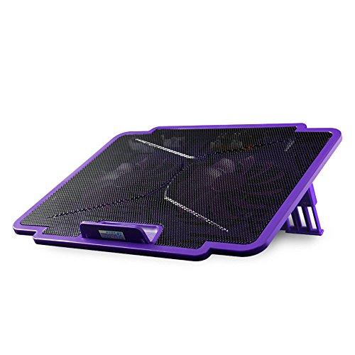 Cooling Pads LDFN Laptop Kühlkörper Basislüfter 15,6 Zoll Tragbare Ultra-Slim 2 Ruhig Fans Laptop Einstellbarer Höhe Und Geschwindigkeit,Black