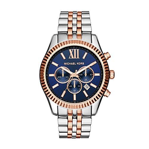 Michael Kors Orologio da polso da uomo cronografo quarzo acciaio inossidabile MK8412