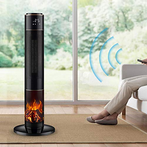 DYCLE tower electric heater/Patio heaters With remote control outdoor and indoor use,PTC ceramic heating element,3 heating levels Standing heater