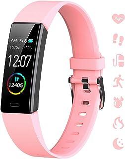 K-berho Slim Fitness Tracker for Kids Women Men,Heart Rate Monitor,IP68 Waterproof Activity Tracker for Boys&Girls,Blood Pressure,11 Sport Modes Health Smart Watch with Pedometer