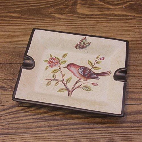 WAYMX Dekoration Aschenbecher Europäischen Retro Alten Keramik Kleine Obstschale Kreative Handwerk (L18.8cm * W15.5cm)