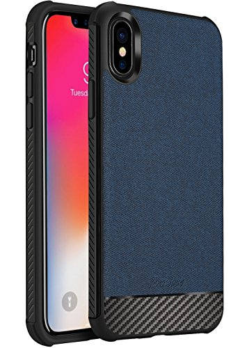 iPhone XS Case/iPhone X Case, ProCase Slim Hybrid Shockproof Protective Case Anti-Fingerprint Back Cover for 5.8 inch Apple iPhone Xs (2018) /iPhone X (2017) -Navy
