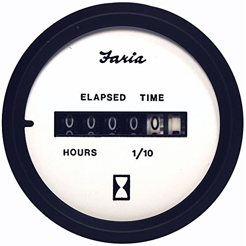 Best Price! Faria 12913 Euro Hourmeter Digital Gauge-White, 2