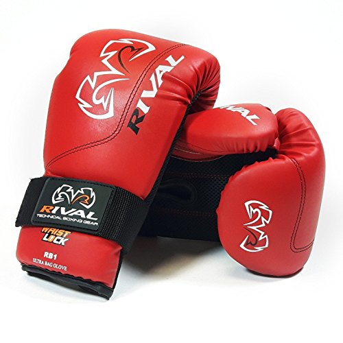 RIVAL Boxing Bag Gloves- Red RB1 Ul