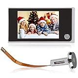 Denash Mirilla Digital, Pantalla LCD de 3,5 Pulgadas, cámara en ángulo de 120 Grados, Mirilla para Seguridad en el hogar, admite fotografía, fácil de Instalar para Cualquier Grosor de Puerta
