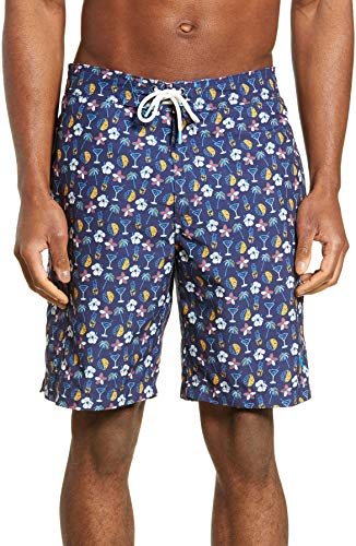 Tommy Bahama Men's Baja Martini Tasso 9-Inch Board Shorts (Medium, Aleutian Night)