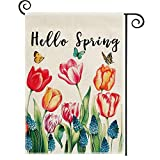 DOLOPL Spring Garden Flag 12.5x18 Inch Double Sided Decorative Hello...