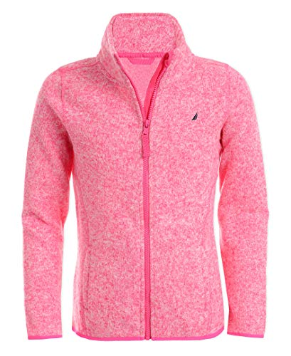 Nautica Girls Uniform Full-Zip Fleece Sweater