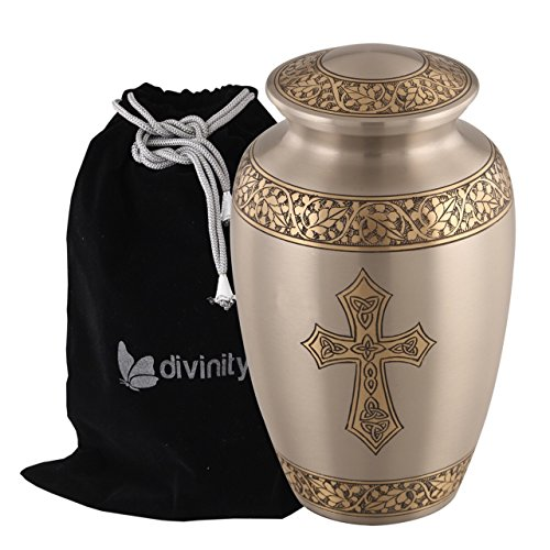 Blessings of Christ Platinum & Gold Cross Urn