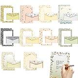 Papier à Lettre Ensemble,Papier de Correspondance Ensemble,Lettre Enveloppe En Papier,Papier à Lettres et Enveloppes,Enveloppes Papier a Lettre,Papeterie avec enveloppe (Boîte)