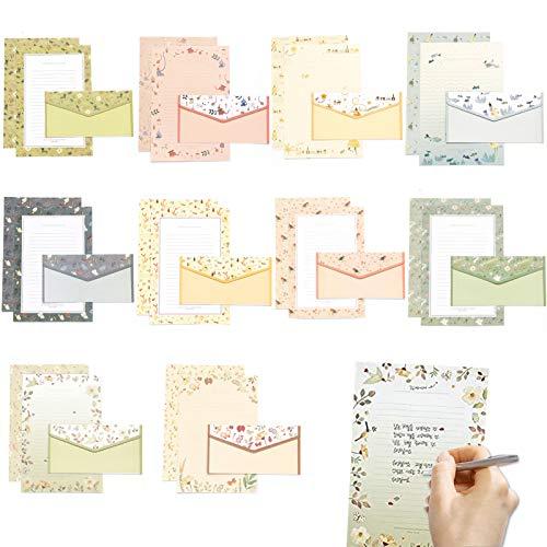 papel de carta y sobres,Juego de papel de carta,sobre de papel de carta,sobre y papel de carta,Bloc de cartas con sobres,Juego de papel de cartas con sobre,papel de carta de papelería (Caja)