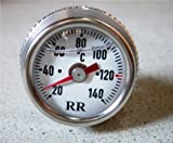 RR社 油温計/オイルテンプメーター Z1 Z2 Z1000R Z750GP GPZ750 ゼファー1100 Z400FX GPZ400 白/028