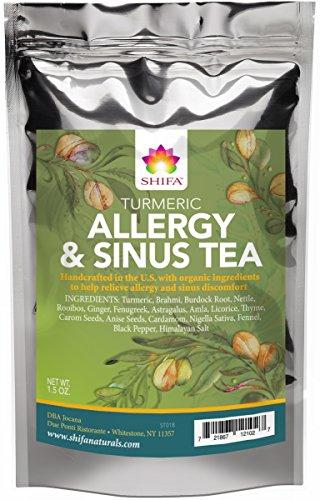 Shifa Turmeric Allergy and Sinus Tea with Herbs, Phytonutrients and Antioxidants